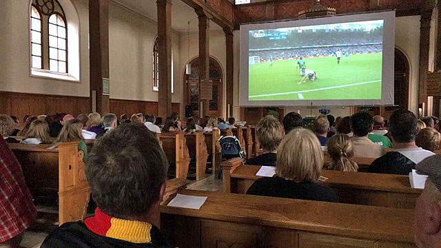 Public Viewing in der Bergkirche. Foto: privat